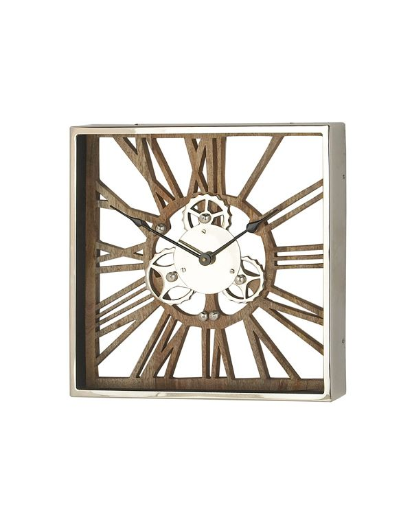 Reloj de Pared de Metal y Madera Chico