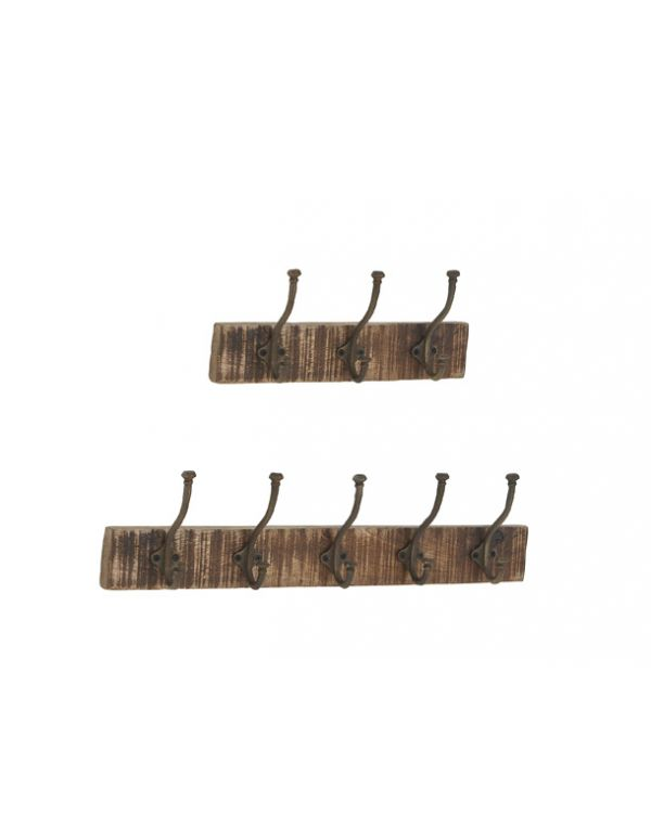 Percheros de Madera/ Metal S/2