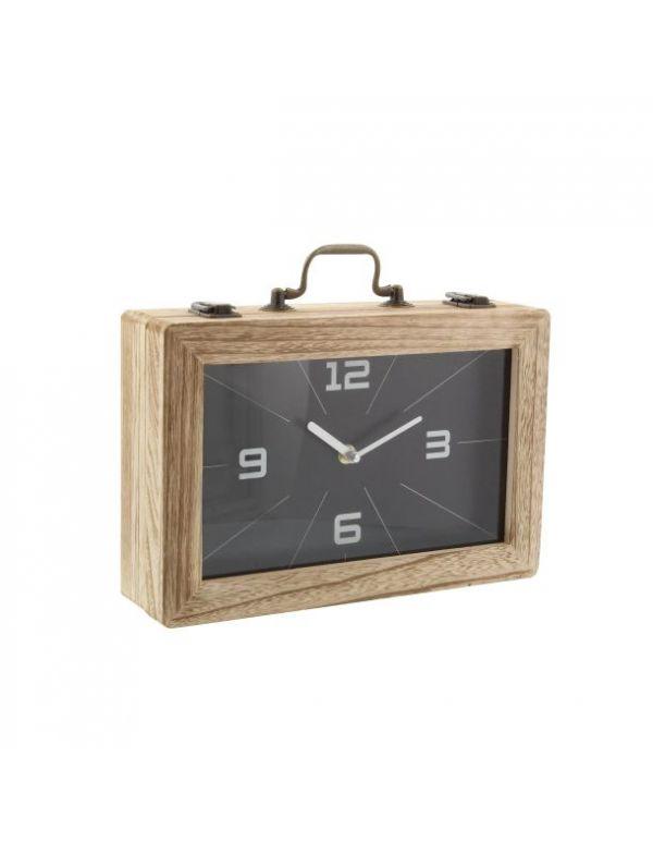Reloj de Madera Rectangular