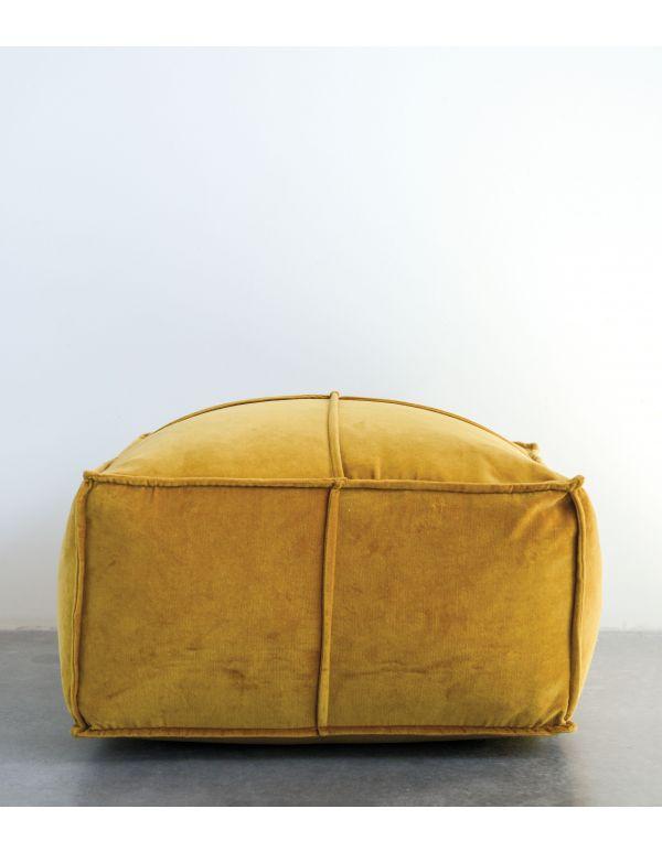Puff algodón y terciopelo oro