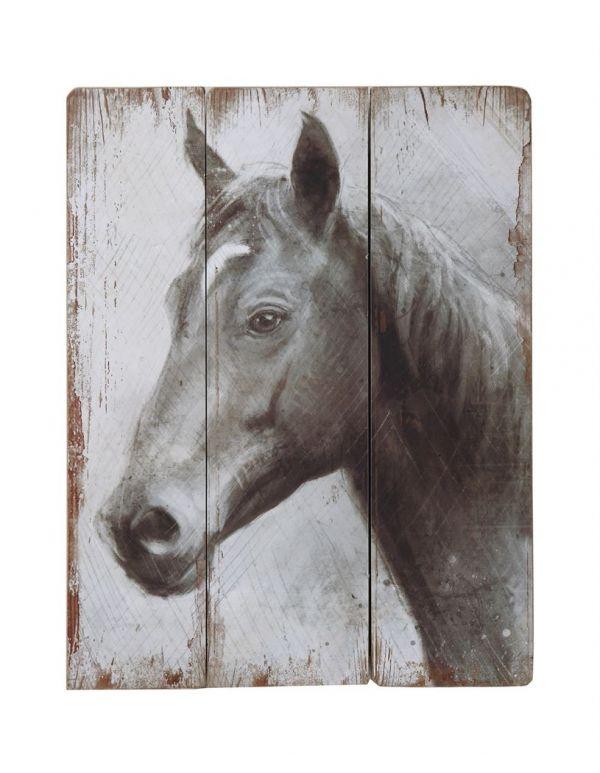 Decoración de pared con caballo