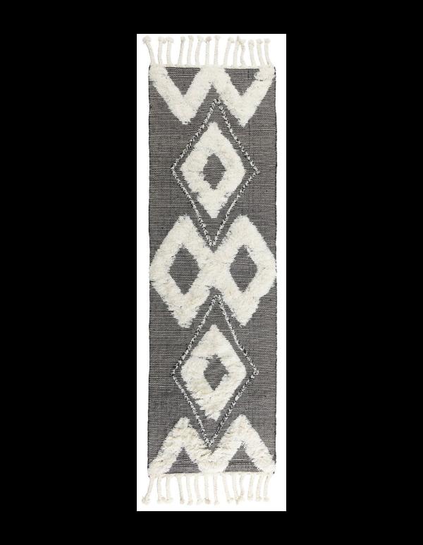 Carmel Kilim Shag Ivory/Black 2.6x8