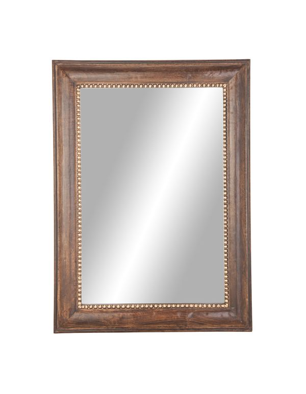 Espejo de Pared con Marco de Madera Rectangular
