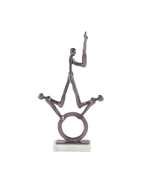 Escultura de Gimnastas de Aluminio