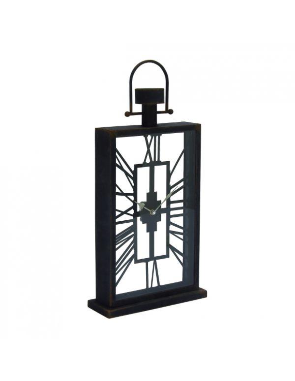 Reloj de Mesa, Madera y Metal Negro