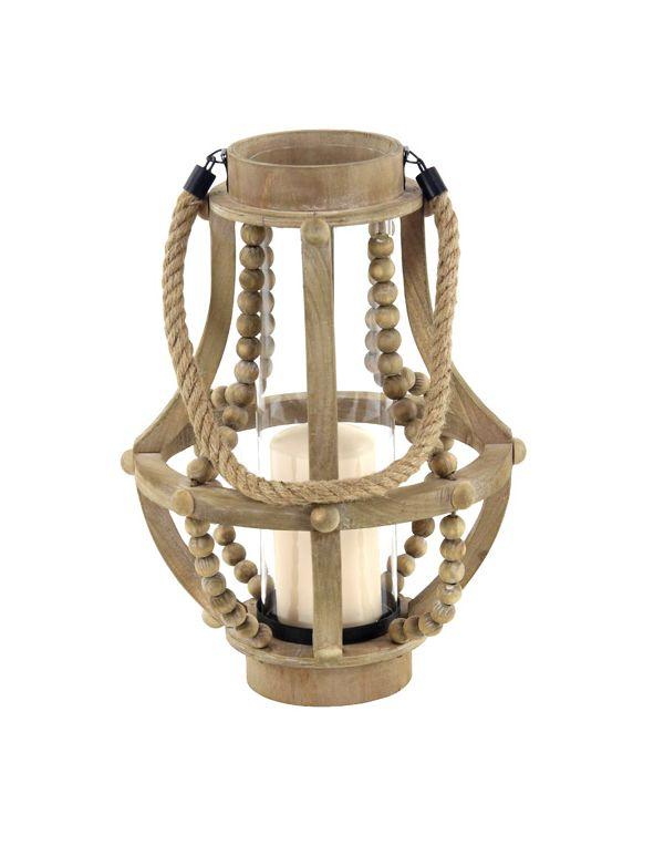 Linterna Marco de Madera y Vidrio