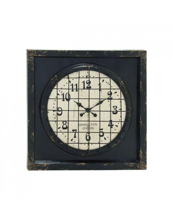"Reloj de Pared Metálico 39""W, 39""H"