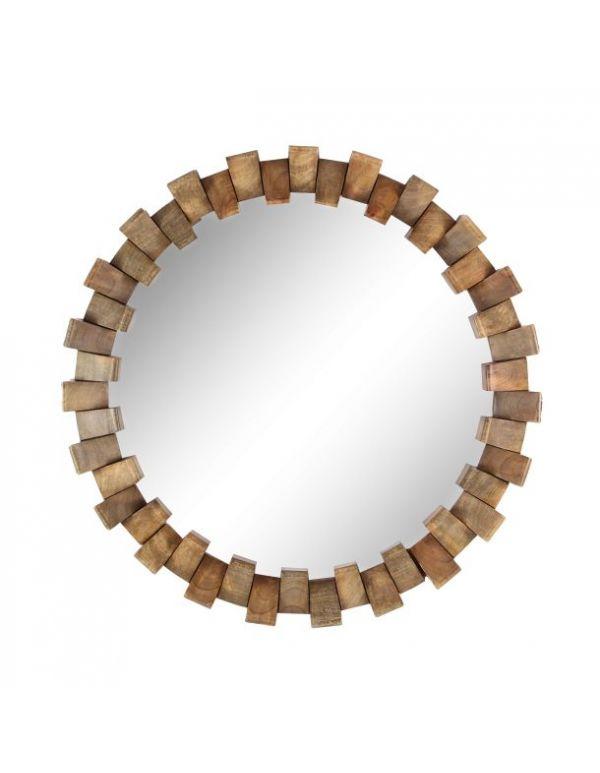 Espejo de Madera y Metal Nivel