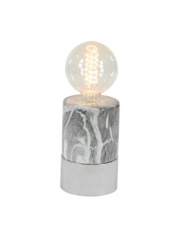 """CERAMIC LAMP W BULB 5""""W, 14""""H"""