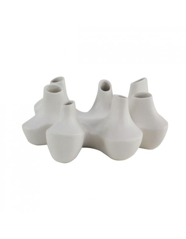 Florero Ceramica Coral Blanco