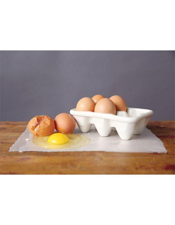 """Soporte para huevos de cerámica de 6-1 / 2 """"L"""