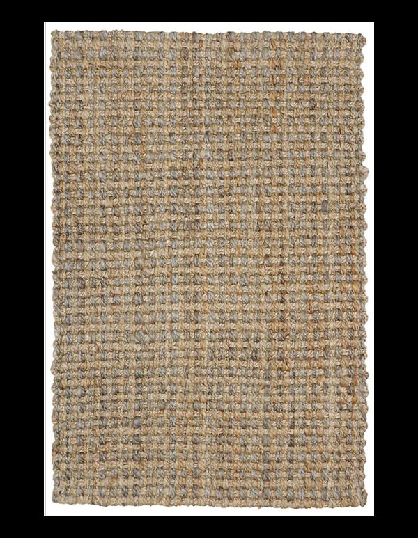 Tapete tejido Panama Natural/gris 2x3