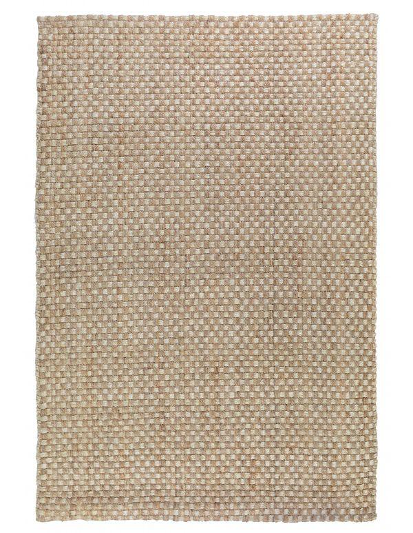 Tapete tejido canasta Natural/marfil 2x3