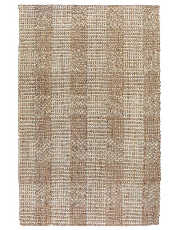Tapete tejido mosaico Natural/marfil 2x3